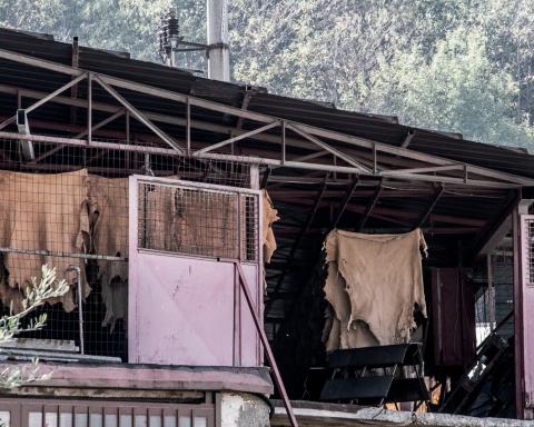 Tra le concerie di Solofra, in provincia di Avellino