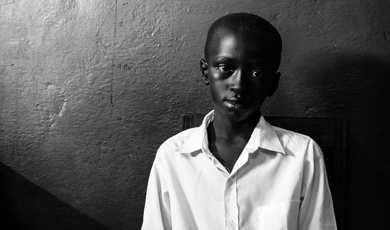 Giovane congolese