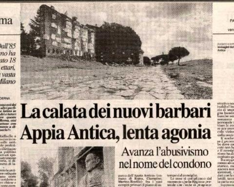 La calata dei nuovi Barbari. Appia Antica, lenta agonia (Antonio Cederna, 1994)