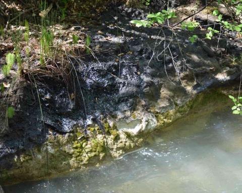 Idrocarburi nel fiume Pescara dal torrente Arolle