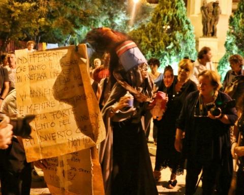 Sit-in di protesta dei cittadini di Taranto // Daniela Spera