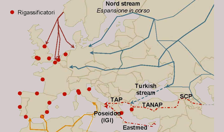 Hub del gas europeo. La mappa dei gasdotti