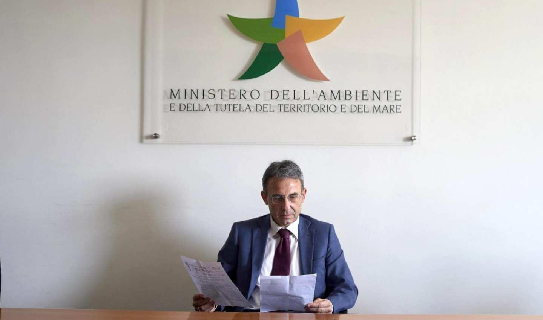 Il ministro dell'Ambiente, Sergio Costa